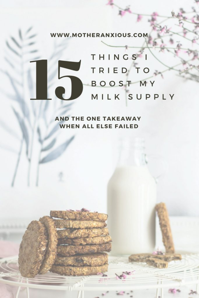 Written for Mummyfique, I share 15 ways I tried to boost milk supply and one important message for all breastfeeding mothers struggling with a low supply. #mentalhealth#maternalmentalhealth#postpartum#anxiety#postpartumanxiety#momsunite#bloggerswithheart